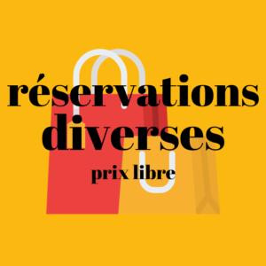 Paiement d'une réservation (prix à renseigner)